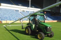 How to safely install rugby posts.