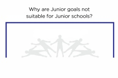 Why 'Junior' goals are not suitable for junior schools