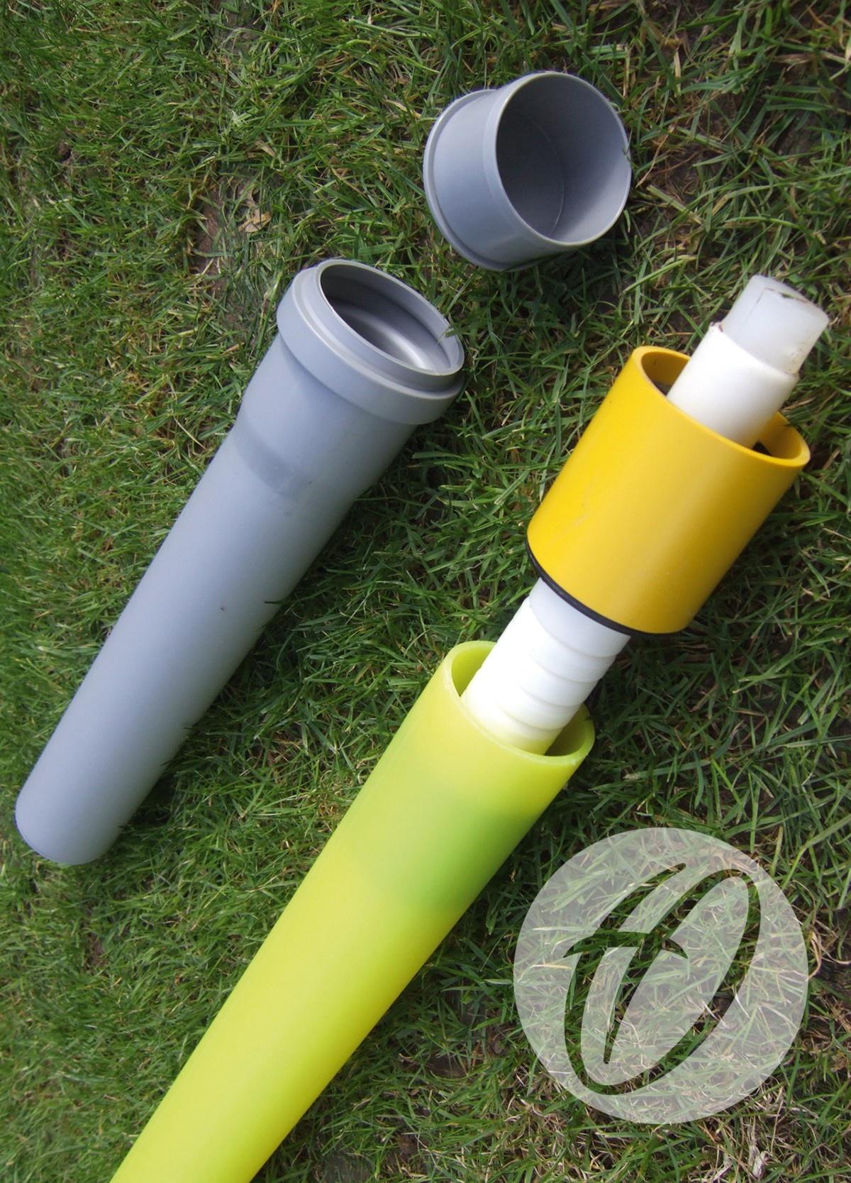 Yellow Pro Flex 50mm Pole With Flag Socket Amp Lid Harrod