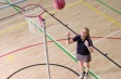 Single Pink Netball Post - Freestanding, 16mm Ring