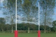 No 3 Steel Rugby Posts - 6m Socketed