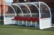 Premier Team Shelter - 4m Red Seats Socketed