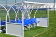 Premier Team Shelter - 4m Blue Seats Socketed