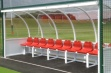 Premier Team Shelter - 5m Red Seats Socketed