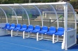 Premier Team Shelter - 5m Blue Seats Fixed