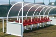 Premier Team Shelter - 6m Red Seats Fixed