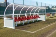 Premier Team Shelter - 6m Red Seats Socketed