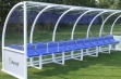 Premier Team Shelter - 6m Blue Seats Socketed