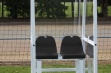 Premier Officials Shelter - 1m Black Seats Fixed