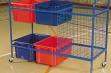 Large Storage Trolley C/w Bins