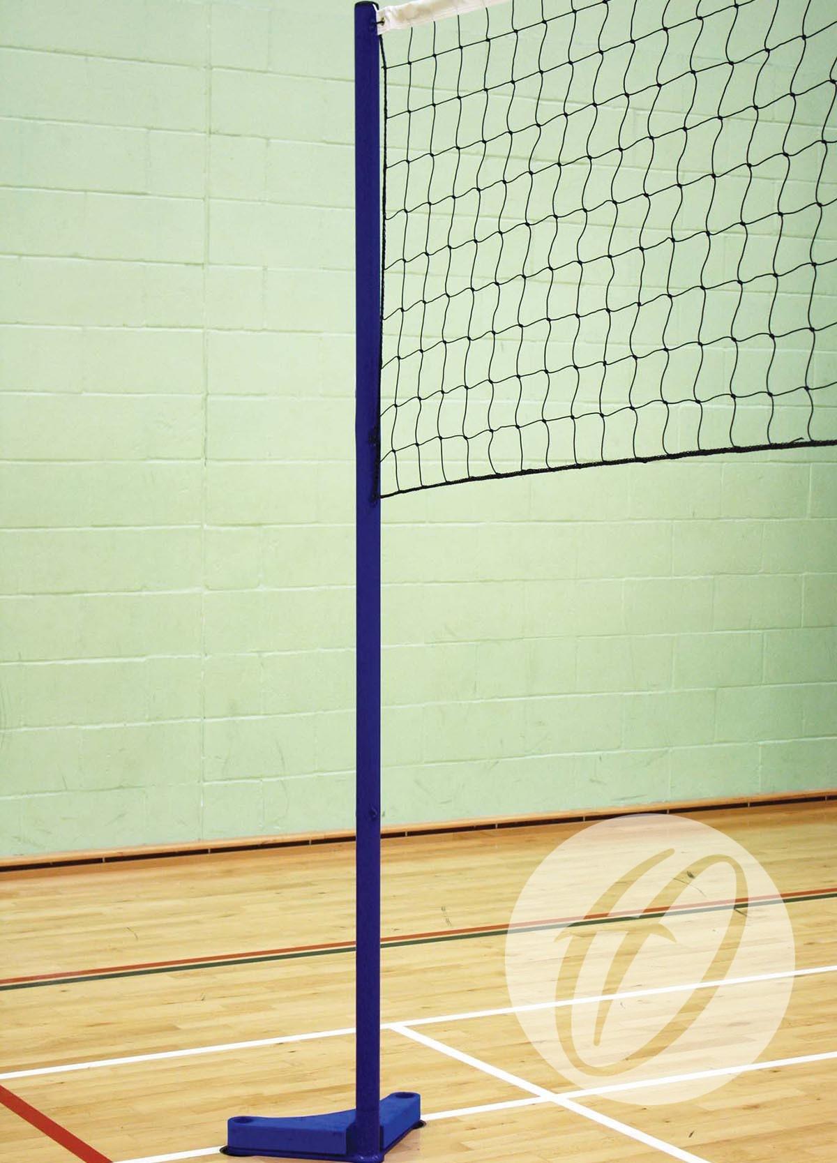 Floor Fixed Volleyball Set 50mm Club Posts Harrod Sport