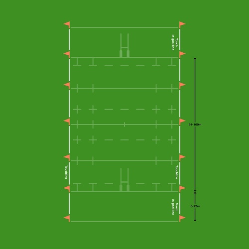 Rugby Pitch Dimensions  U0026 Markings